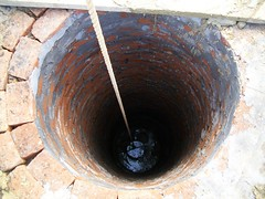 The well during construction