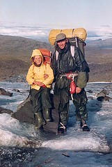 Med Olga i Lapland 1983