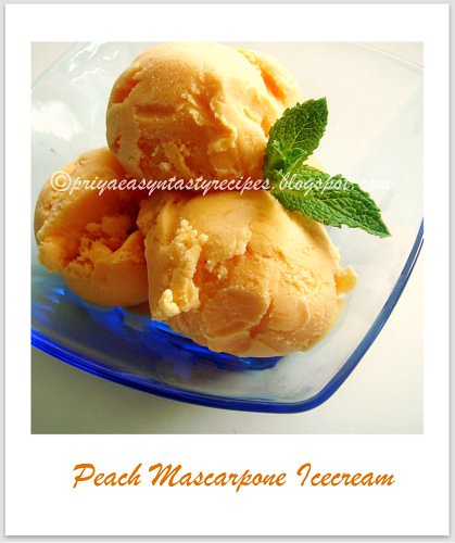 Peach Mascarpone Icecream