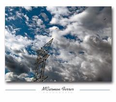 Alta-Tensin (M@men) Tags: nubes tormenta cielos buitres nwn somontano estadilla torretas