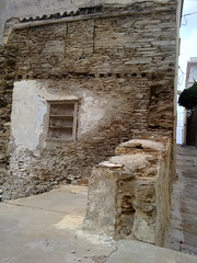 WHERE IT WAS A HOUSE (dimitra_milaiou) Tags: life road art history stone architecture painting island greek grey living europe paint village steps hellas greece hora chora andros cyclades dimitra  horaandros    plakoyres milaiou
