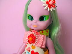 Embla (Helena / Funny Bunny) Tags: vintage doll 1972 embla funnybunny emeraldwitch solidbackground fbfashion