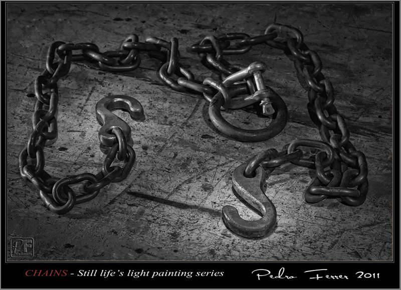 Chains - Still life light painting series