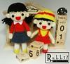 Amigurumi Maruko & Sister (rabbizdesign) Tags: girl doll handmade crochet craft amigurumi maruko