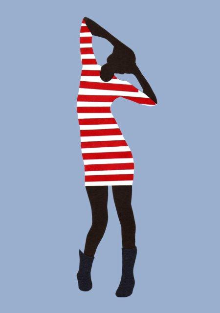 stripy gal