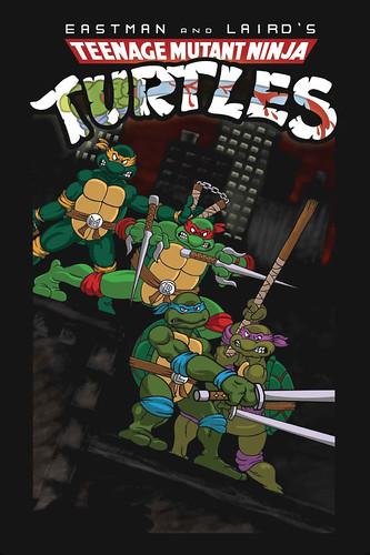"""Teenage Mutant Ninja Turtles"" #1 V.1 Remix Fan Comic / Cover art by Cartoonist Aaron  (( 2011 ))"