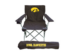 Iowa Hawkeyes TailGate Folding Camping Chair