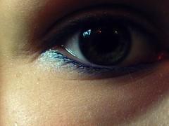 Can You See My Soul? (Send me adrift.) Tags: green eye closeup close skin makeup hazel eyeball mascara eyeliner