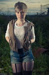 Laura Barton 1 (Stuart Hines) Tags: portrait hot laura sexy grit stand photo model nikon legs sassy flash tights stuart barton setup derelict beautifull strobe hines yn d300 fashon strobist leatther oudoorgirl