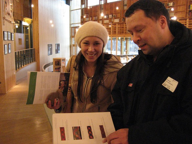 Miranda Laber and Per Klemetsen Hætta visiting the Sámi Parliament, photo: Angelica Lawson
