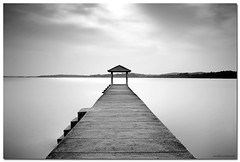 The End of a Path (arabischenab) Tags: bw seascape filter lee malaysia schneider portdickson pasirpanjang nikkor1835mmf3545difed nikond700 09soft