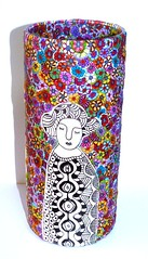 zentangle on polymer clay (**mira pinki krispil-colors of life ***) Tags: art handmade clay vase pinki polymer      zentangle mirakris