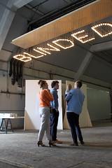 Graduation 2011 (kwikzilver) Tags: show lighting city urban haven building art netherlands dutch festival architecture port docks lights design rotterdam matthijsborghgraef industrial interior graduation warehouse blinded academy willemdekooning pakhuis feniks loods wdka 2011 academie academyofarts katendrecht kwikzilver