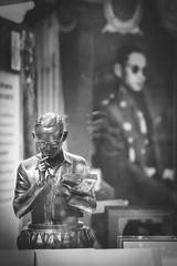 Bangkok, Thailan - Jun 10 2016 : King Bhumibol Adulyadej statue with King picture background showed at Siam Paragon Shopping. (nattapan.suwansukho) Tags: 9 adulyadej army asia bangkok bhumibol bhumipol birthday buddhism celebrate celebration city crowd editorial king kingdom majesty man military monarch monarchy music orchestra palace parad parade people procession rama sanam street thai thailand traditional yellow