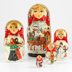 Russian Winter Wonderland Nesting Doll Set (The Russian Store) Tags: matrioshka matryoshka russiannestingdolls  stackingdoll  russianstore  russiangifts  russiancollectibledolls shoprussian