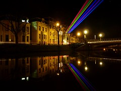 Reflection (Frans.Sellies) Tags: holland reflection sol night rainbow university utrecht nightshot nederland thenetherlands laser laserbeam paysbas universiteit olanda hulanda niederlande  lumen weerspiegeling laserbeams spiegeling hollandia  lustrum utrechtuniversity  holandia hollanda pasesbajos lepelenburg mattern pasesbaixos   alankomaat    nizozemsko yvettemattern  nyderlandai    laserstralen   uu375 sollumens sollumen p1290490 nderlande