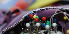 Sewing Pins in a Cushion (darkerskies) Tags: sewing pins cushion