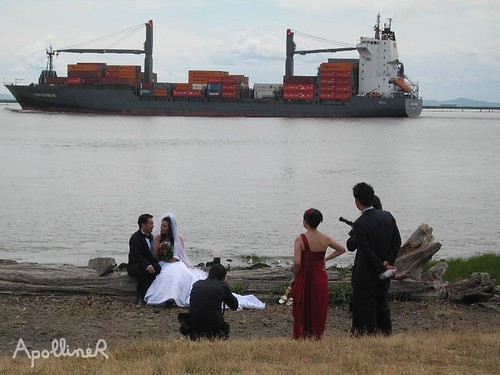 newlyweds in Steveston