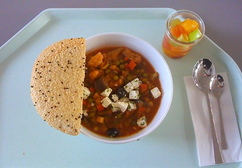 Griechischer Gemüsetopf mit Schafskäse & Oliven / Vegetable stew greek style with feta & olives