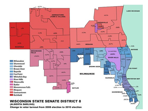 map of WI state senate district