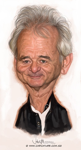 digital caricature of Bill Murray - final