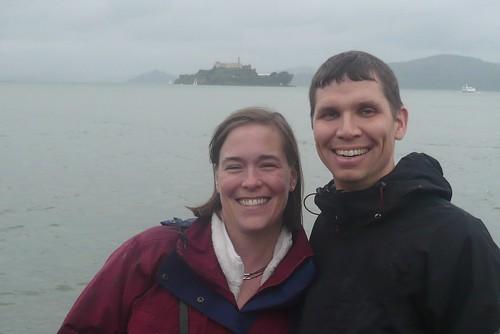 Tim and Julie with Alcatraz in the distance