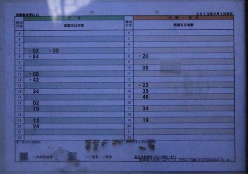 数馬バス停発武蔵五日市駅行き「浅間尾根登山口」のバスの時刻表