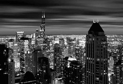 Chicago Skyline - Loop B&W by doug.siefken