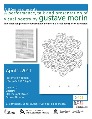 gustave morin visual poetry presentation - A B Series - April 2 2011