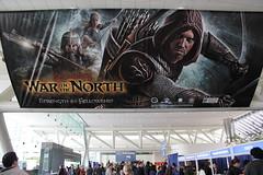 WonderCon 2011 - LOTR War in the North banner 1 (marcfalken) Tags: lotr lordoftherings wondercon warinthenorth wondercon2011