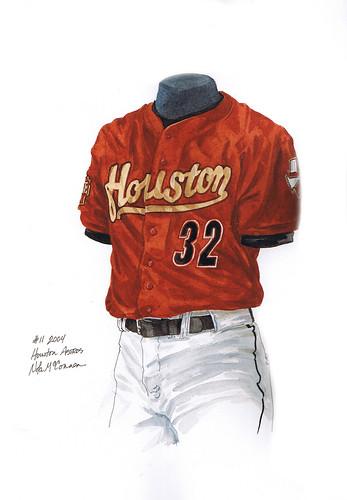 houston astros uniform history. Houston Astros 2004 uniform