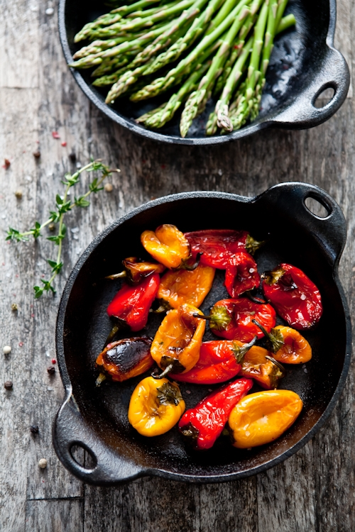 Roasted Mixed Baby Peppers
