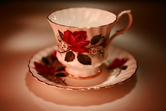 Grandma's Tea Cup (Cindy's Here) Tags: china grandma roses macro canon antique teacup saucer