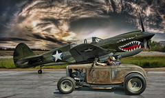 Rumble With The Warhawk .... (Rat Rod Studios) Tags: hotrod warhawk fighterplanes warplanes curtissp40