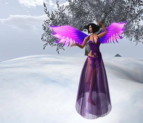 Purple gown and wings