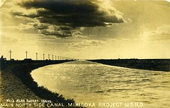 [IDAHO-E-0009] North Side Canal (waterarchives) Tags: canal ditch idaho irrigation reclamation bureauofreclamation realphotopostcardrppc minidokaproject northsidecanal