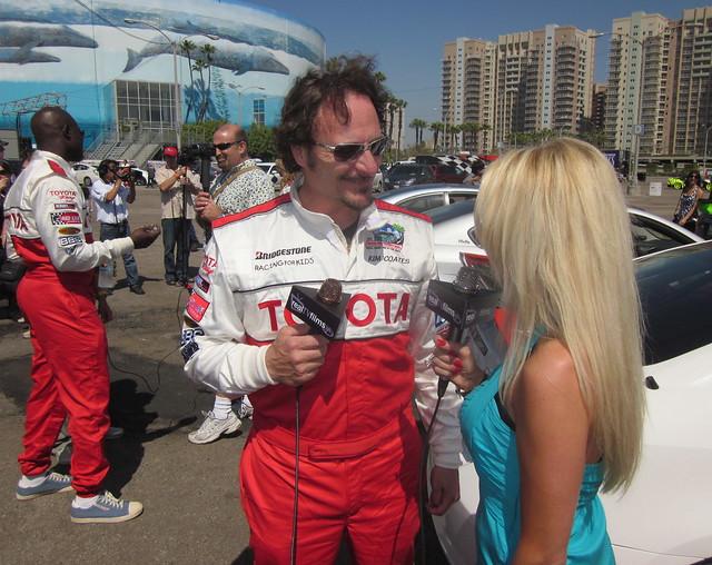Kim Coates, Jennifer Lexon,  Toyota Grand Prix Celebrity Race 2011