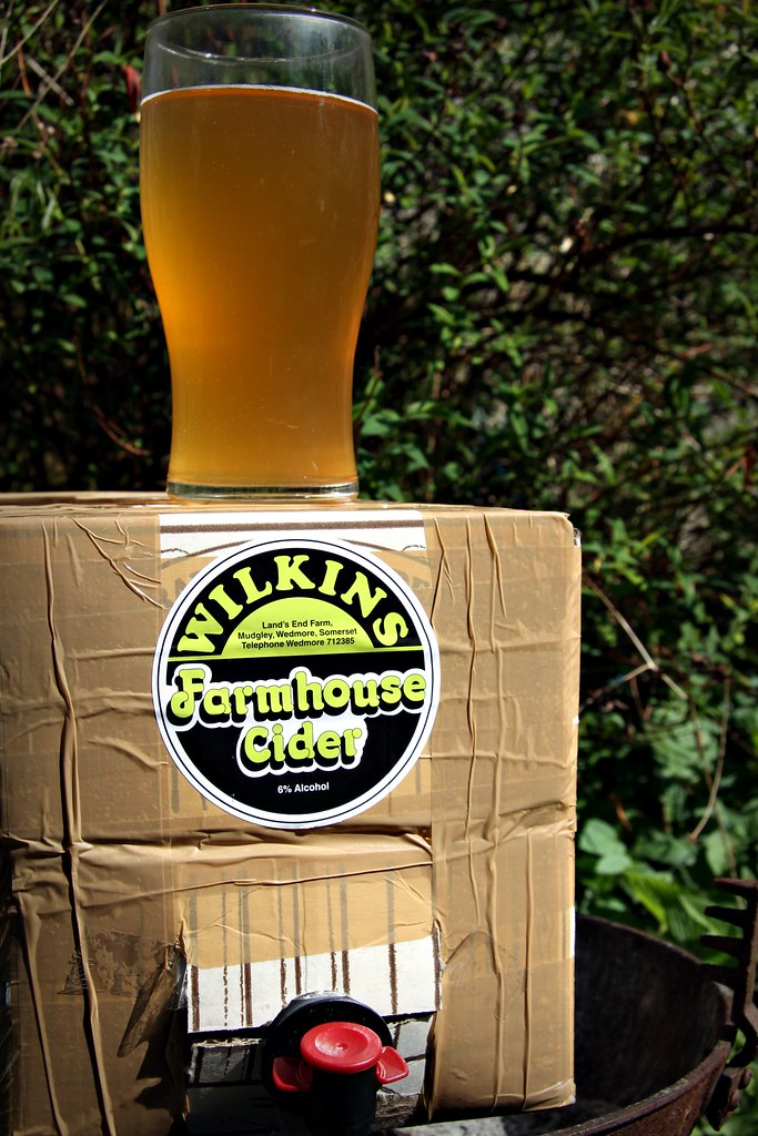 Wilkins farmhouse cider in the garden