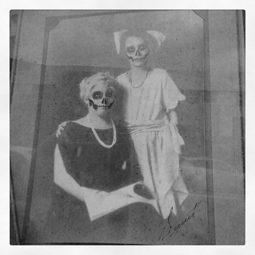 Day of the Dead Faces - portrait of a mother and daughter