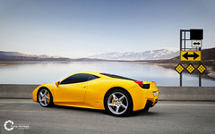 Ferrari 458 Italia (Tareq Abuhajjaj | Photography & Design) Tags: light sky orange white black cars car sport yellow race speed dark photography lights design high nikon flickr italia nissan power top wheels fast gear ferrari turbo saudi arabia manual carbon fiber rims 70 riyadh v8  ggg 2010 ksa 070 458 tareq        d700      foilacar tareqdesigncom tareqmoon tareqdesign  abuhajjaj
