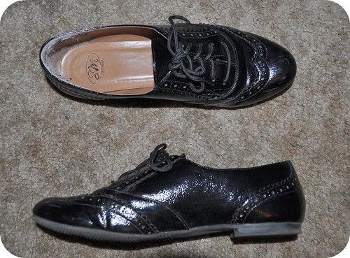 1 Pair: 2 Ways Black Oxford Shoes