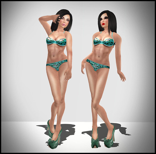 MONS - Ales Skin Series -  Likit mu - Blossom Lips (w Clevage Tatt Layer) & Black mu - Red Lips (FULL)