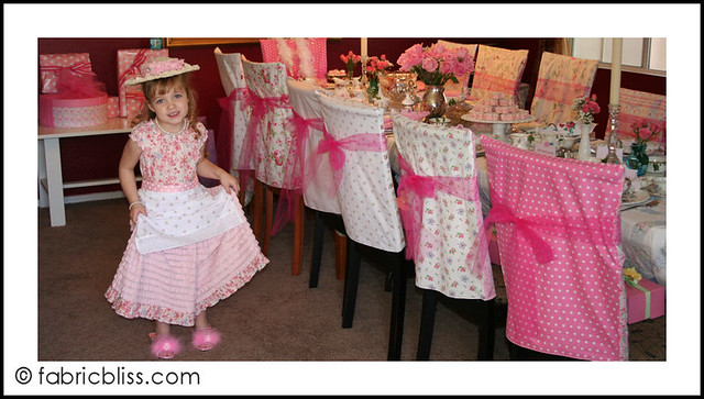 tea party - the birthday girl