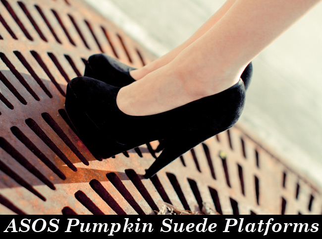 Asos Pumpkin Heels, shoes, Suede platforms, Fashion