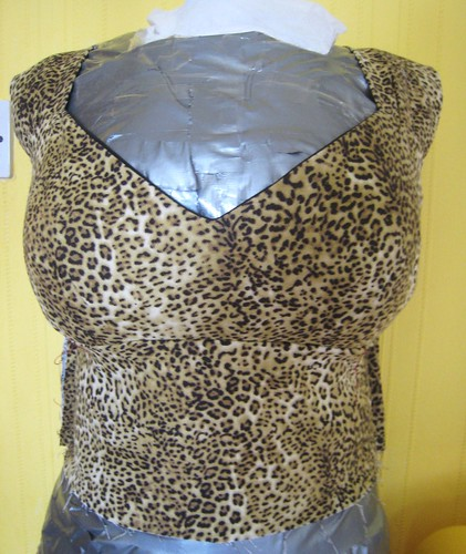 leopard dress full bodice