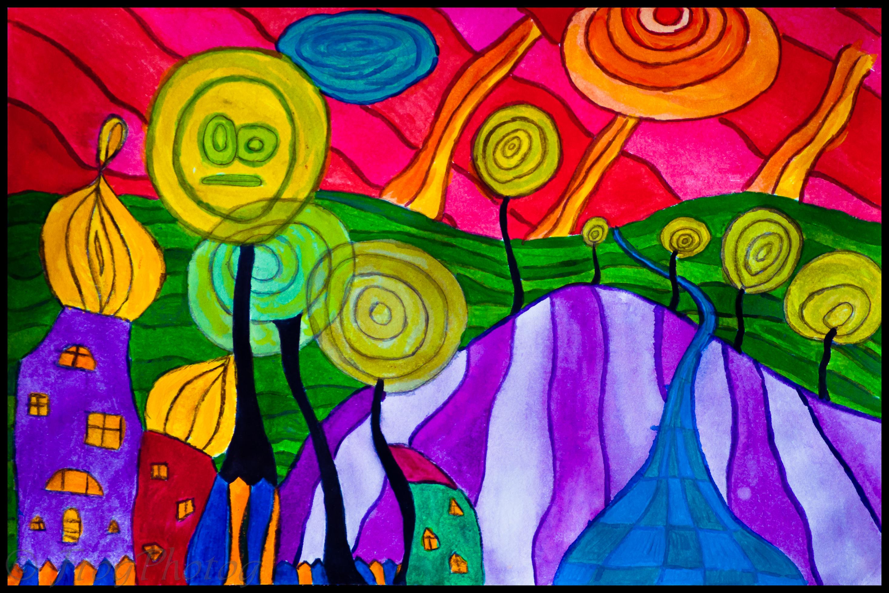 Hundertwasser, by Frogmum!