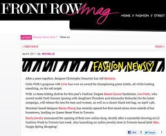 Front Row Mag - April 6, 2011 - Online