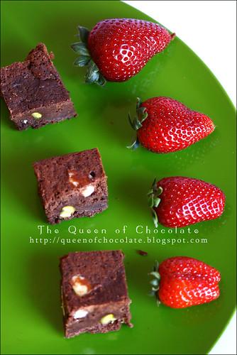 Brownie al cioccolato e pistacchi
