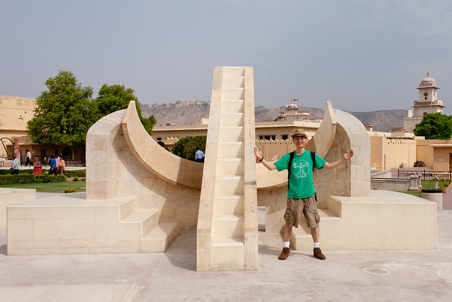 Sundial at Jantar Mantar in Jaipur