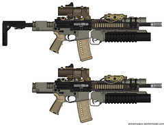 Dream M4A1 Carbine (I'M_ON_A_ BOAT...Biatch!) Tags: knights flashlight custom m4 m16 m203 kac surefire peq m4a1 556 magpul